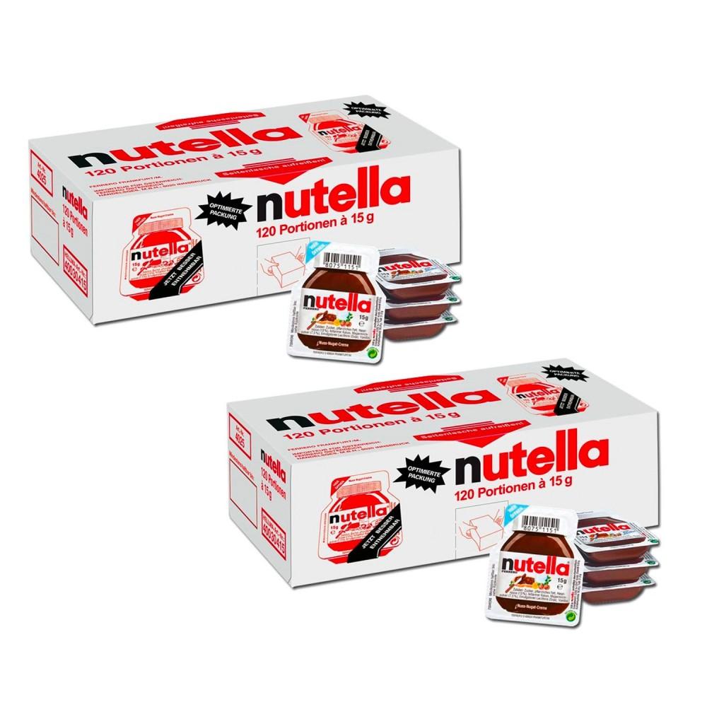 Ferrero Nutella confezione risparmio 240 vaschette da 15g crema spalmabile