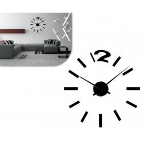 Orologio da parete adesivo in 3D da comporre design moderno facile da applicare