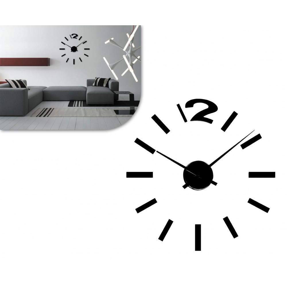 Orologio da parete adesivo in 3d da comporre design moderno - Orologi componibili da parete ...