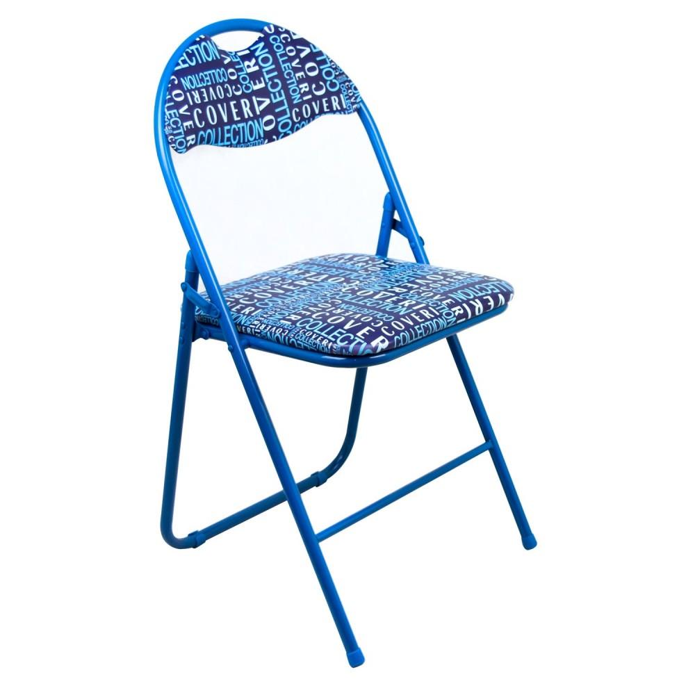 Sedia pieghevole 4106009 COVERI base in metallo schienale e seduta imbottiti