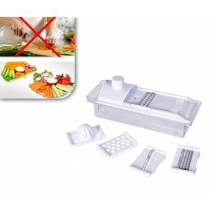 Tagliaverdure 5 funzioni grattugia affetta frutta e verdura spremiagrumi manuale