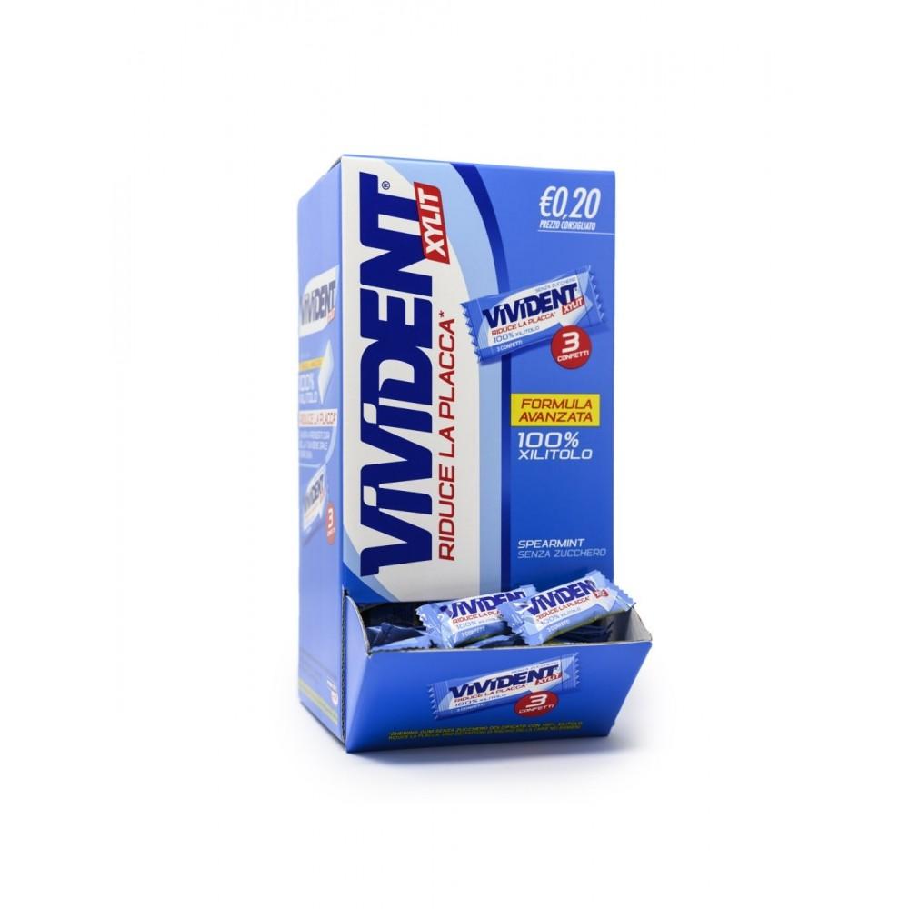 Vivident Xylit Spearmint Senza Zucchero 170 pz da 3 gomme Riduce la Placa