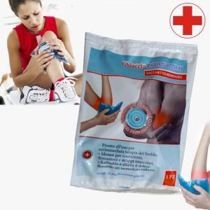 Kit 4 confezioni di ghiaccio istantaneo pronto soccorso di piccoli e grandi traumi utilizzato nello sport