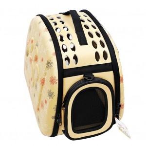 Image of Trasportino pieghevole tracolla cani gatti roditori piccola taglia 40x28x33 cm 8018719902128