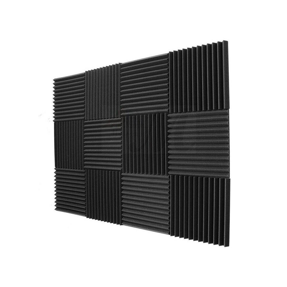 FUBUCA Kit 12 pz Pannelli fonoassorbenti in poliuretano espanso 300x300x250mm