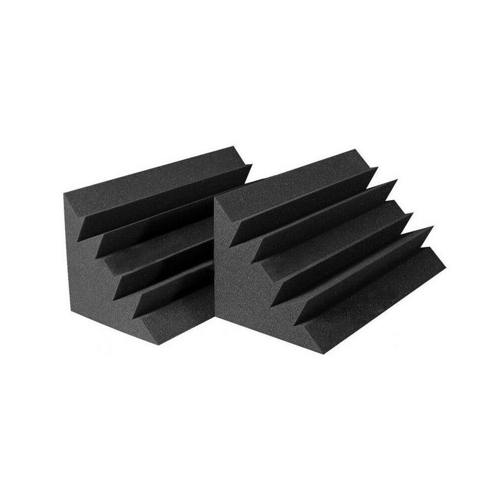FUBUCA kit 12 Pannelli fonoassorbenti Poliuretano angolari Bass Trap 12x12x24cm
