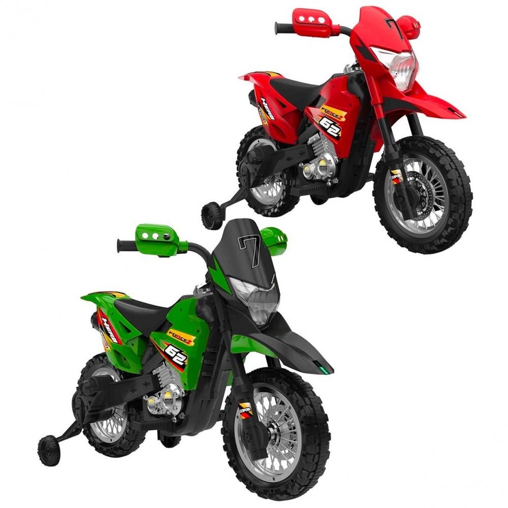 Motocicletta elettrica BKT CROSS WARRIOR B85493 per bambini MP3 luci e suoni