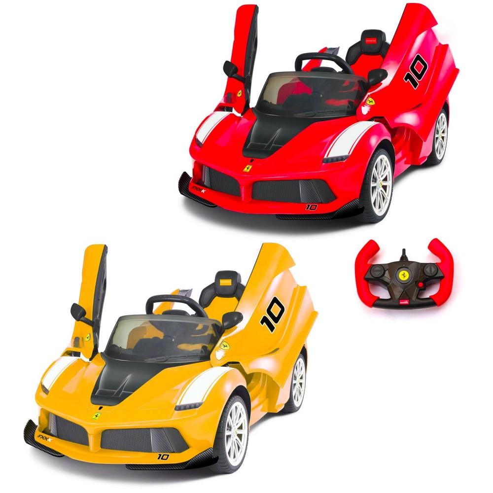 Auto bambini elettrica FERRARI FXX B08184 sedile in pelle 12V telecomando led