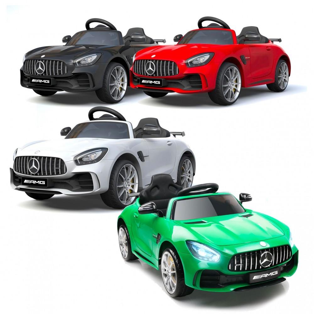 Auto bambini elettrica MERCEDES AMG GTR LT888 con Telecomando 12V MP3 luci led