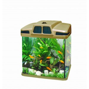 Image of Acquario in plastica rigida 6 litri 19 x 15 x 27 cm luci led 4w con filtro vari colori risparmio energetico 8030040847374