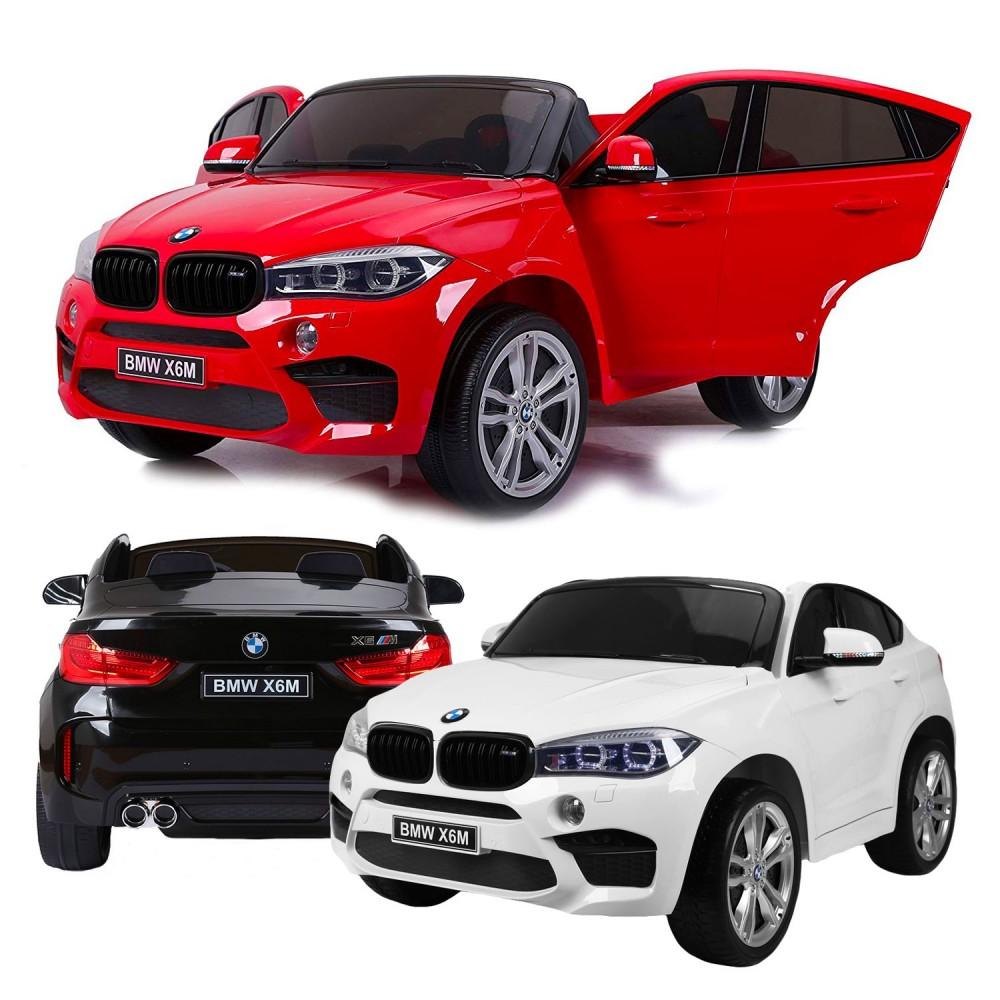 Auto elettrica bambini B80149 BMW X6 BIPOSTO 12V telecomando RADIO FM MP4 TV