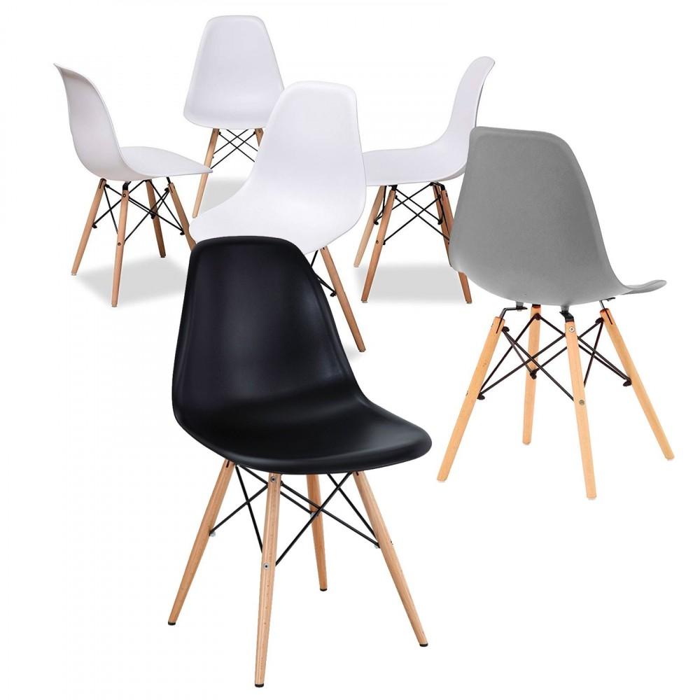 Set di 4 sedie Supreme Design VESTIAMO CASA 686801 gambe legno Seduta Rigida