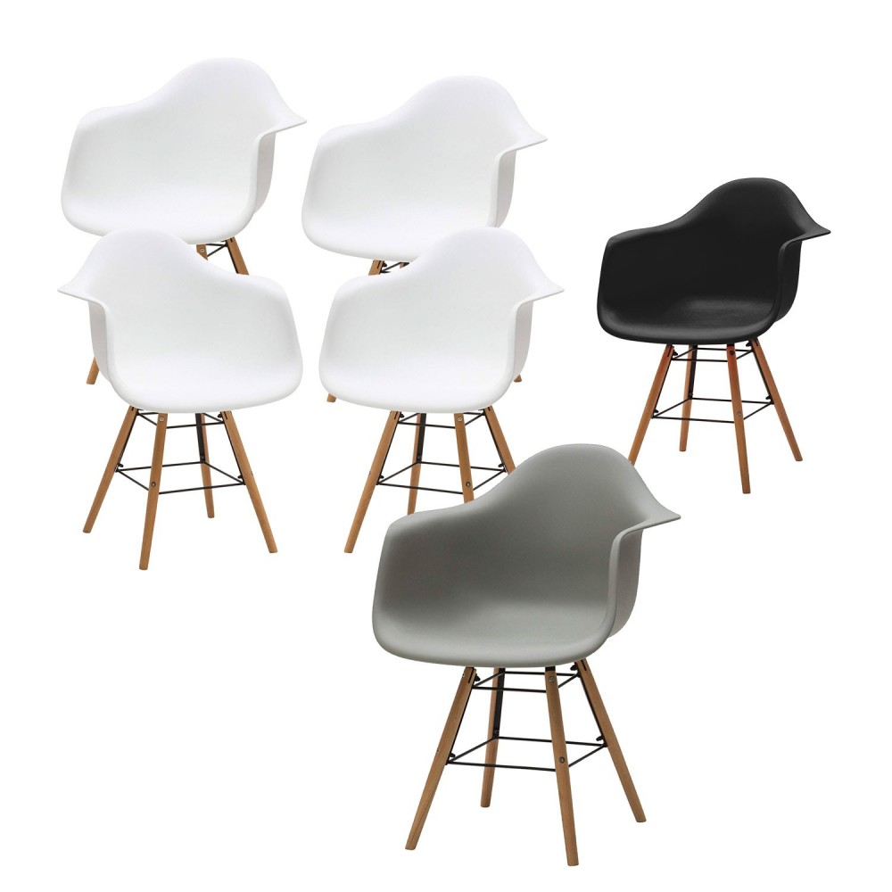 Set di 4 Poltrone Supreme Design VESTIAMO CASA 686804 gambe legno Seduta Rigida