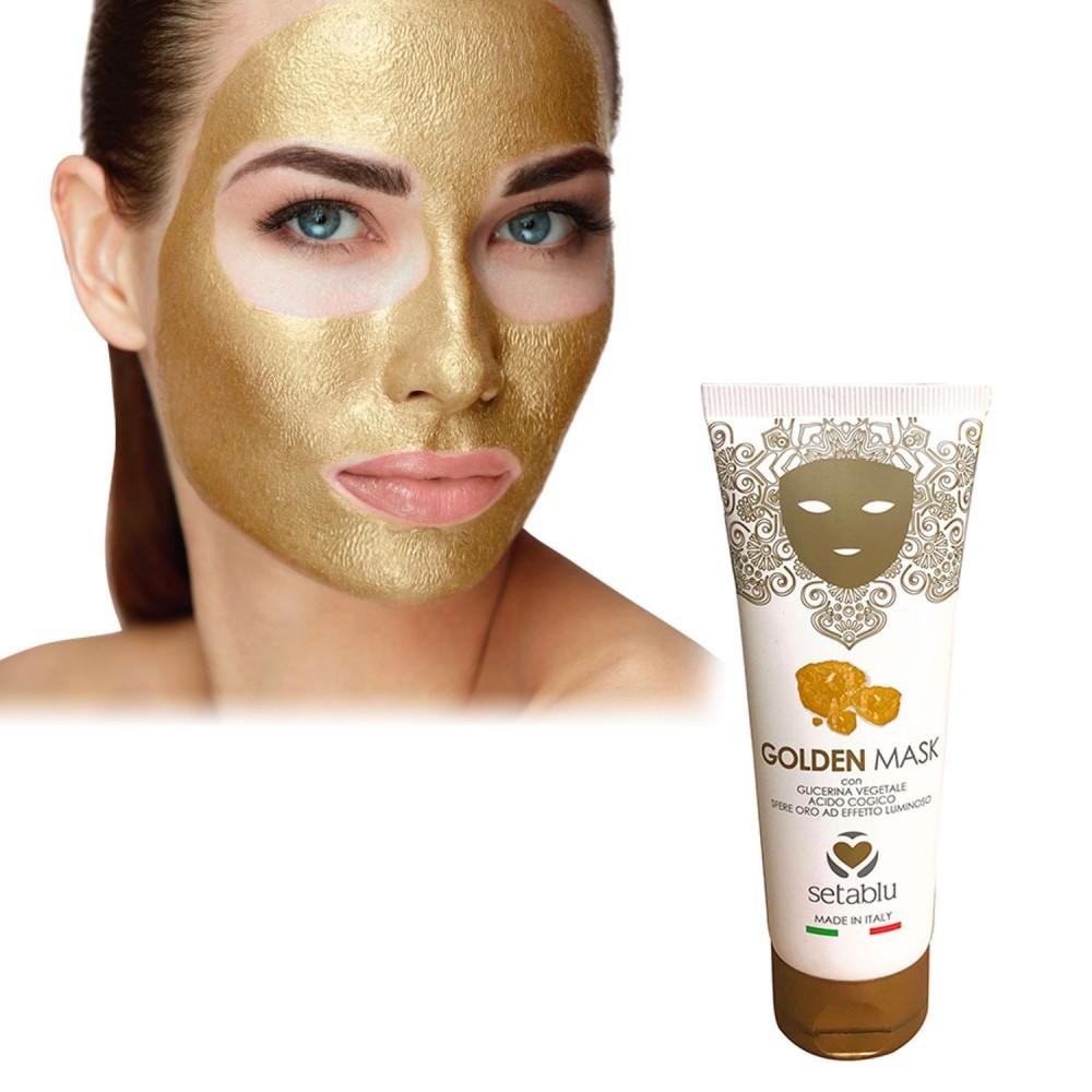 Golden Mask SETABLU 574853 con acido cogico e sfere oro effetto luminoso 75 ml
