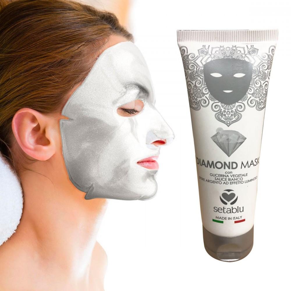 Diamond Mask SETABLU maschera 574856 con salice bianco sfere argento 75 ml
