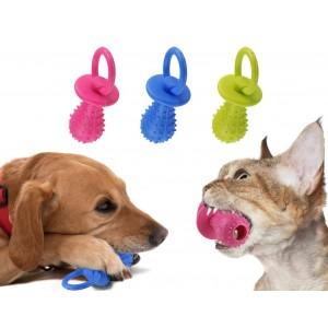 Gioco per animali domestici ciuccio in gomma morbido per cani e gatti