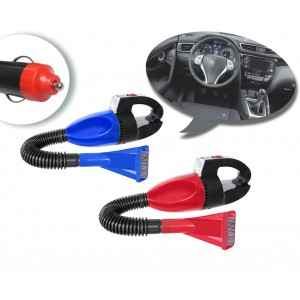 Aspirapolvere da auto 60 watt aspira briciole con accessori e presa accendisigari luce incorporata