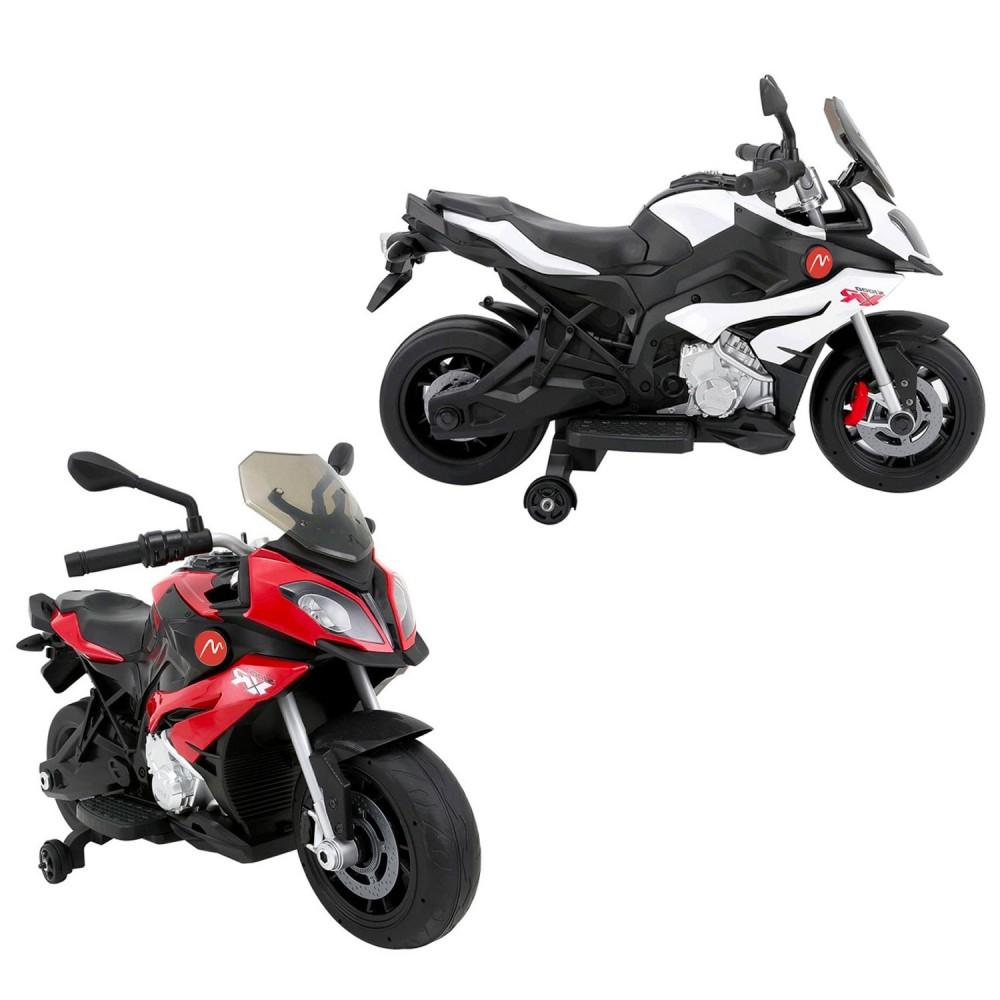 Moto elettrica Power 6V B34306 per bambini MP3 cruscotto luminoso touring