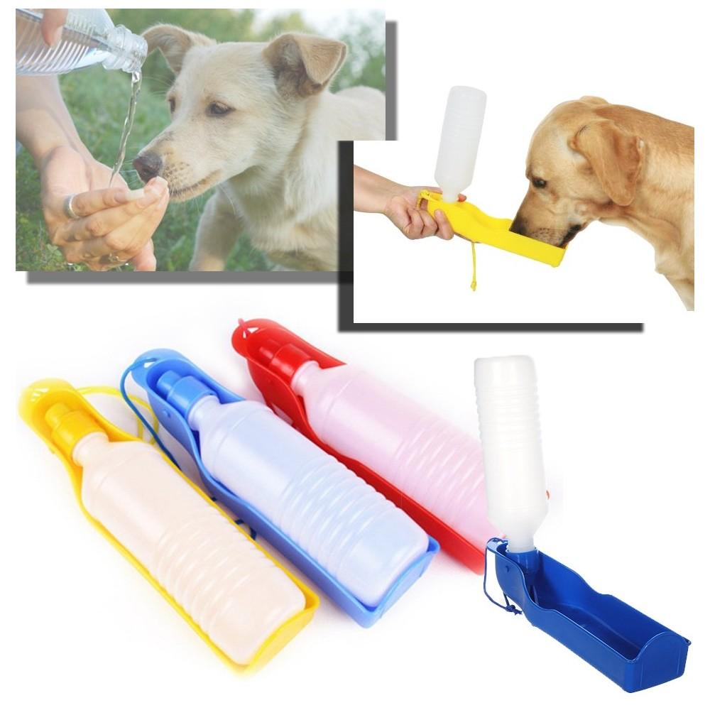 Borraccia con scodella portatile per cani e gatti bottiglia 300 ml beccuccio salvagoccia
