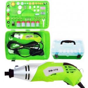 Mini trapano con accessori in valigia 218 pezzi trapano 170 watt