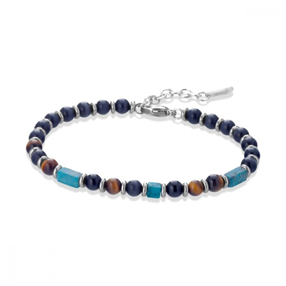 ONE JEWERLY Bracciale da Uomo A2790 Sfere Colorate regolabile