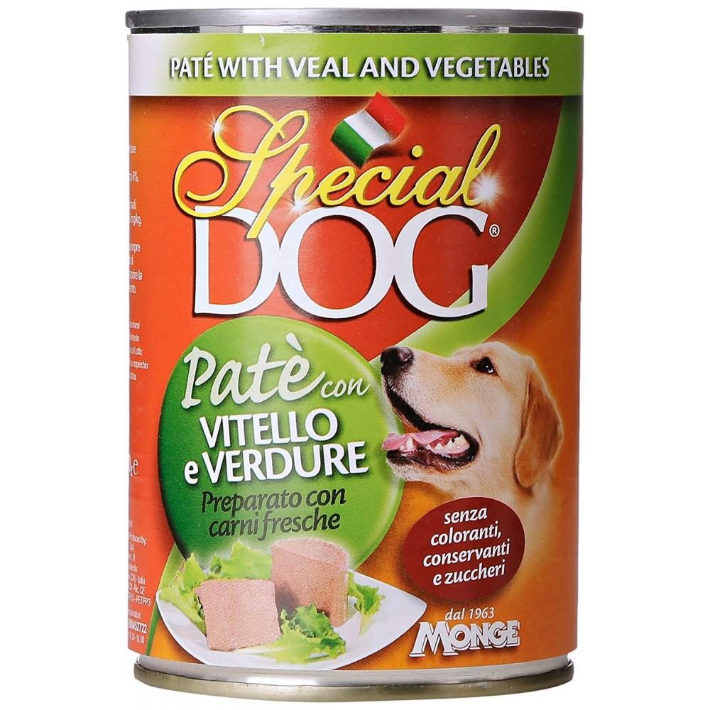 Pack 24 pz Monge SPECIAL DOG Pate' Vitello e Verdure scatoletta cani da 400gr