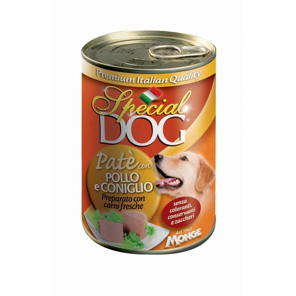 Pack 24 pz Monge SPECIAL DOG pate' Pollo e Coniglio scatoletta per cani da 400gr