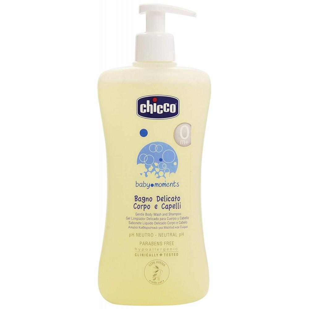 Chicco Avena Bagno Delicato 053211 Corpo e Capelli per bambini 500 ml erogatore
