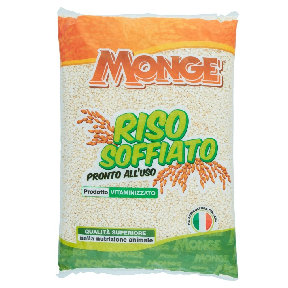 Monge Riso Soffiato Vitaminizzato Pronto all'uso 1 kg adatto per animali
