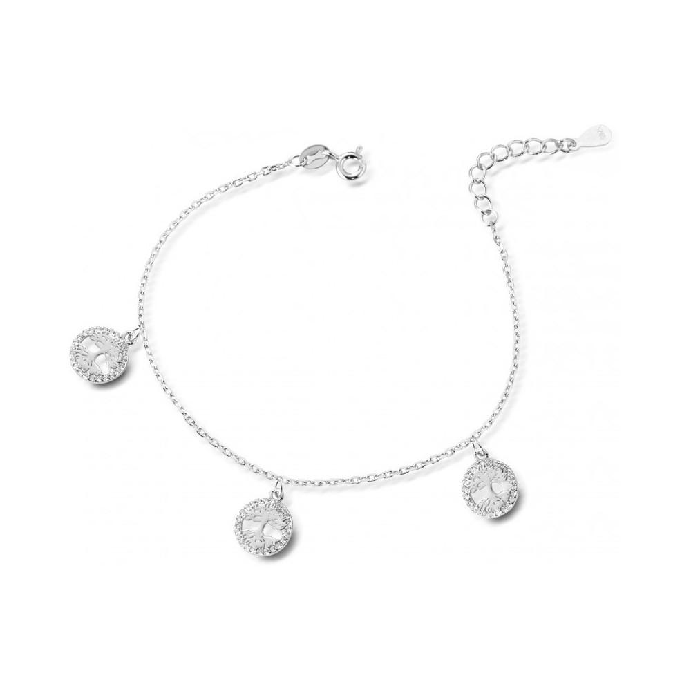 ONE JEWERLY Bracciale Albero della VITA Donna AS0756 argento 925 rodiato