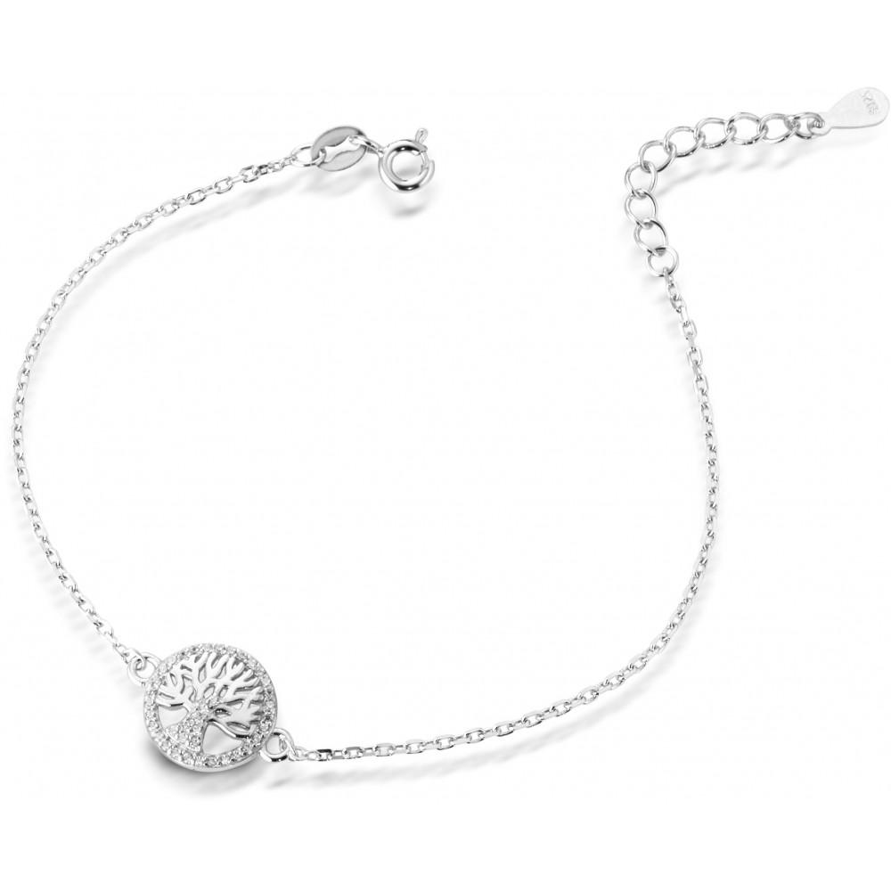 ONE JEWERLY Bracciale Albero della Vita Donna AS0757 argento 925 zirconia bianco