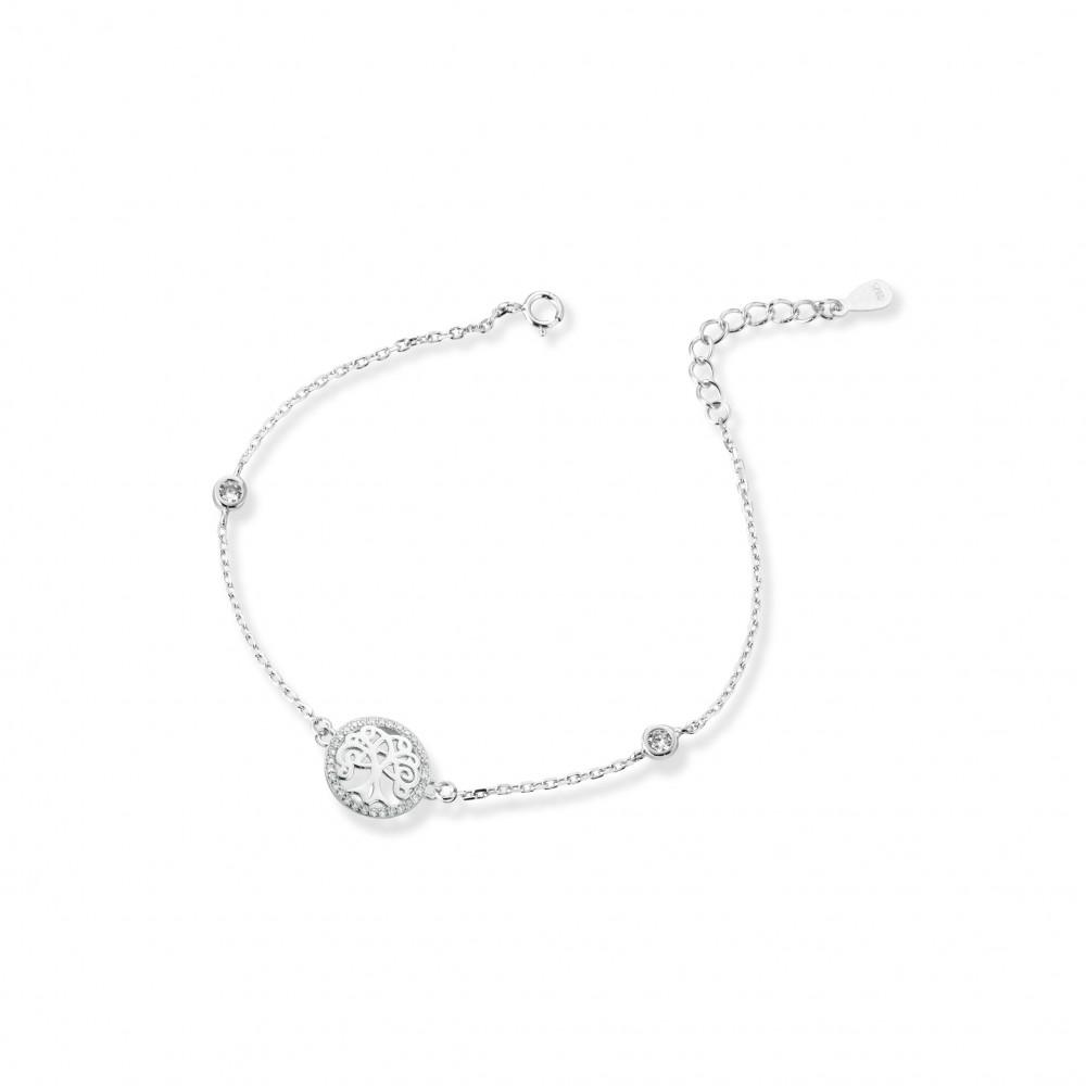 ONE JEWERLY Bracciale Albero della Vita Donna AS0845 argento 925 zirconia bianco