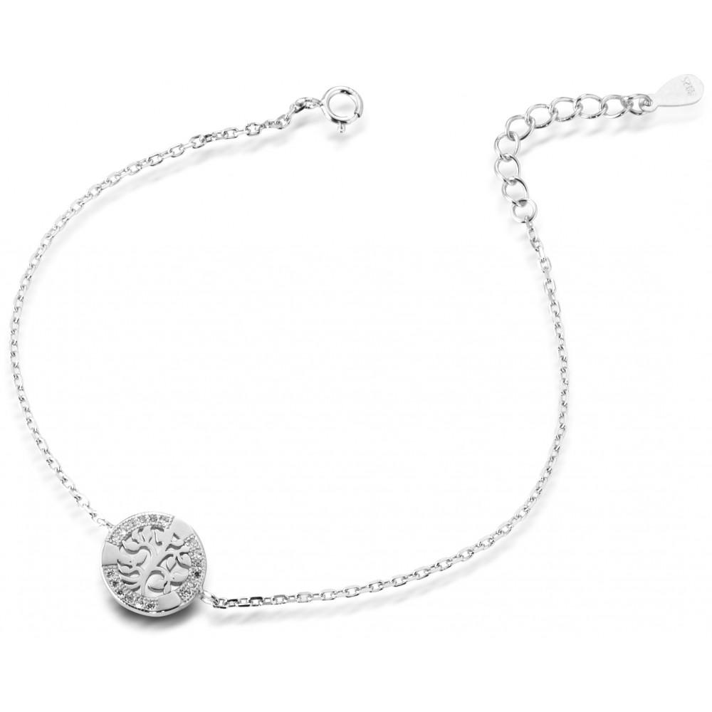 ONE JEWERLY Bracciale Albero della Vita Donna AS0825 argento 925 zirconia bianco