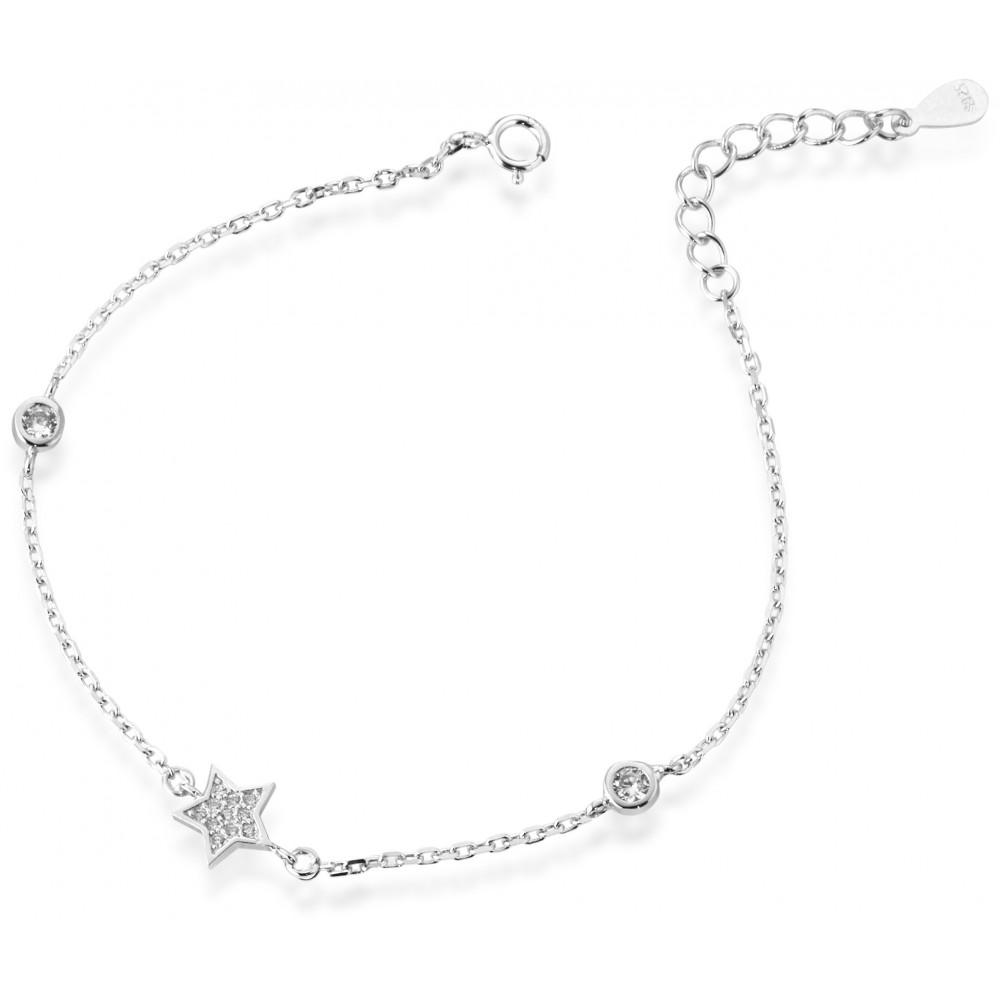 ONE JEWERLY Bracciale Stella Donna AS0831 argento 925 zirconia bianco