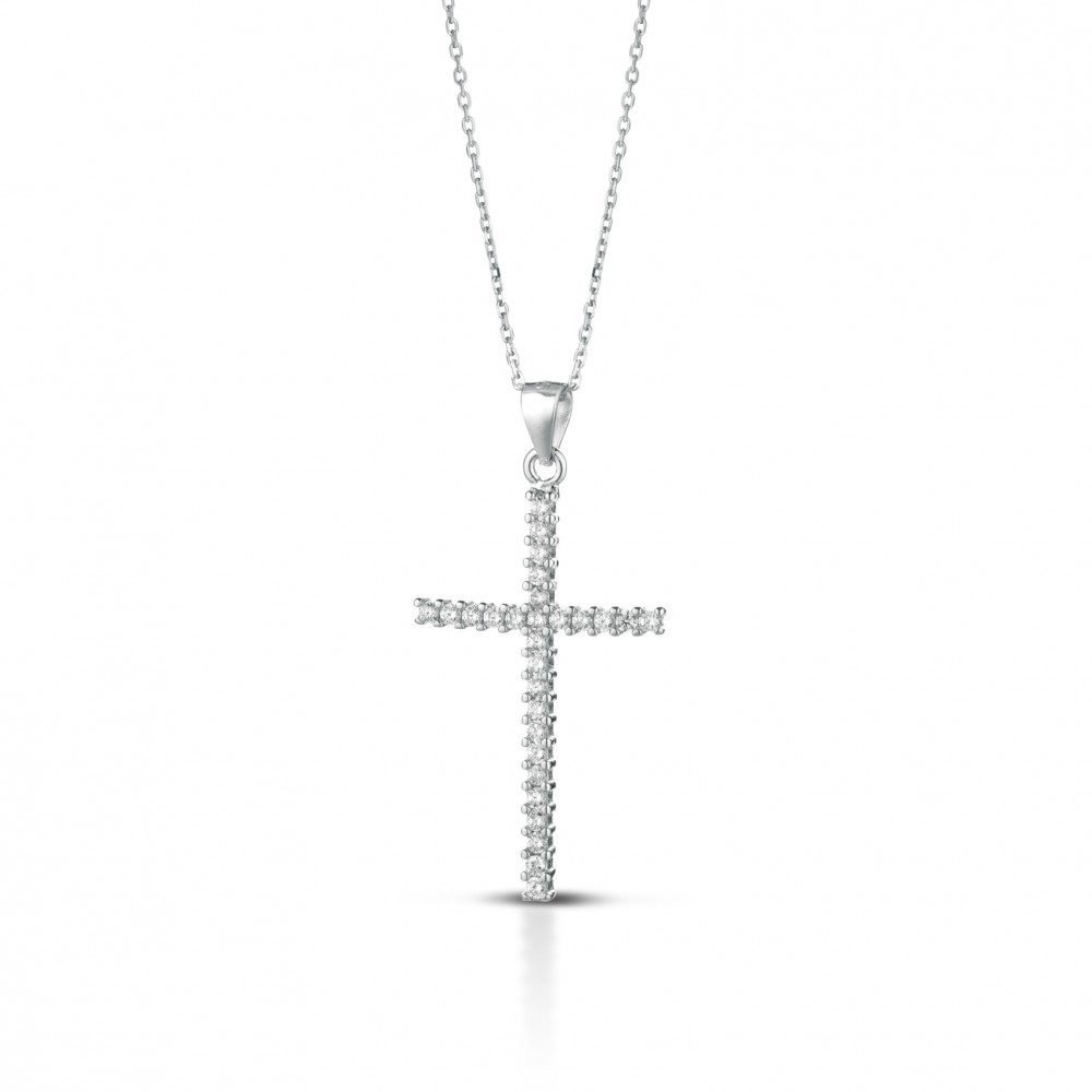 ONE JEWERLY Pendente AS0895 argento 925 rodiato cubic zirconia colore bianco