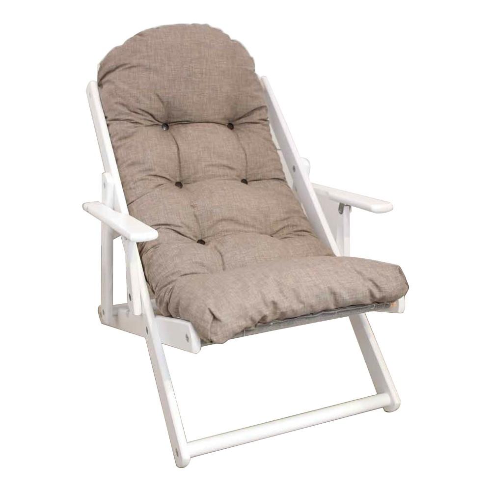 ArtLegno MAS308 Poltrona imbottita reclinabile RELAX RONDO' BIANCA 84X60X110cm