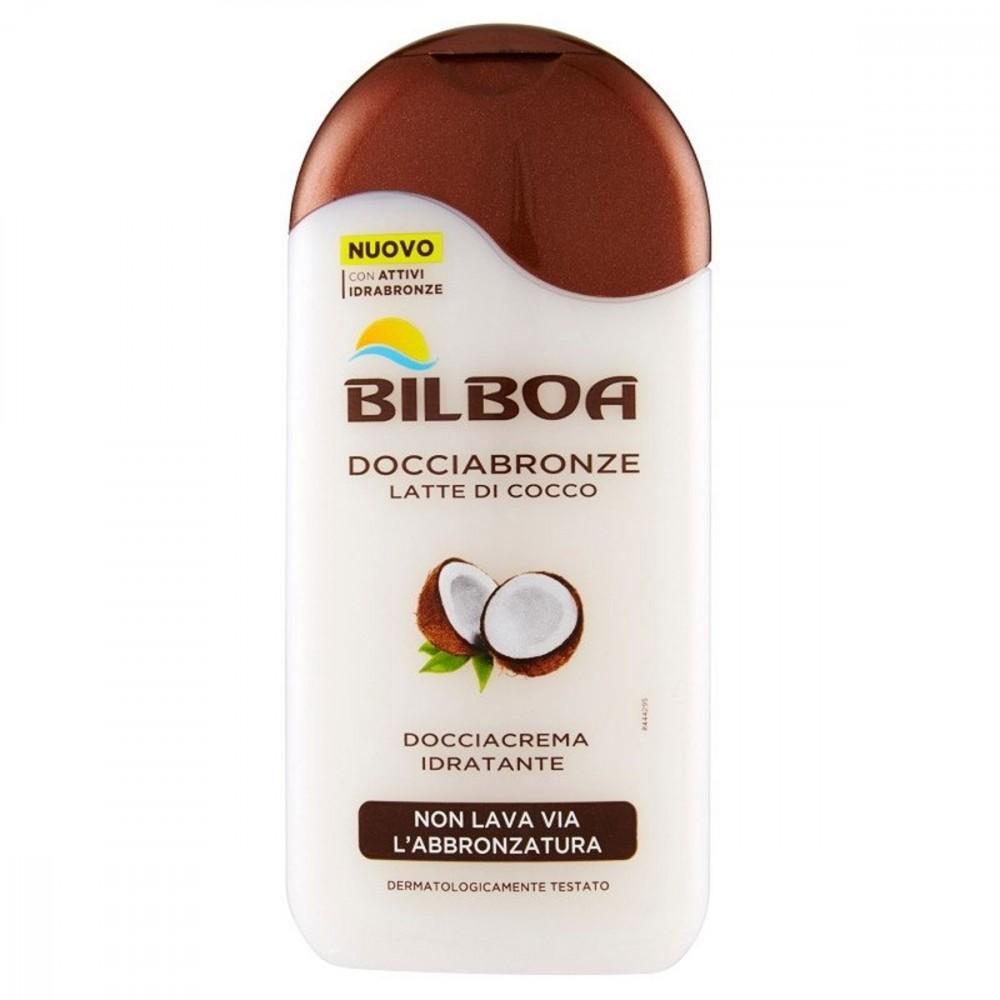 Pack da 6x Bagnoschiuma Bilboa Docciabronze Latte Di Cocco 250 ml