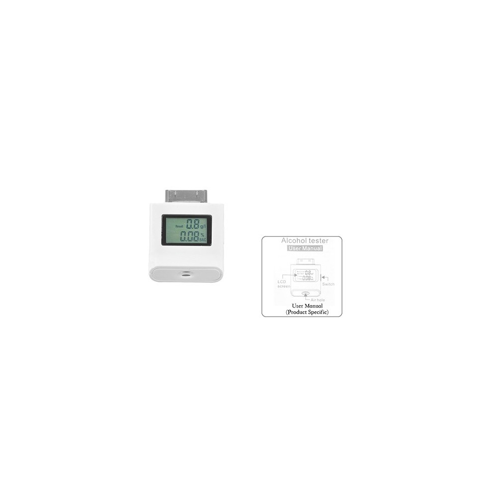 Alcool test etilometro tester digitale i-phone i-pad  i-pod con schermo lcd