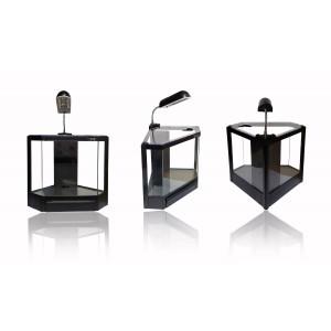 Image of Acquario in plastica rigida 4,5 litri 6 led 2w con filtro risparmio energetico 28,5 x 18,6 x 24,5 cm 8010022323652