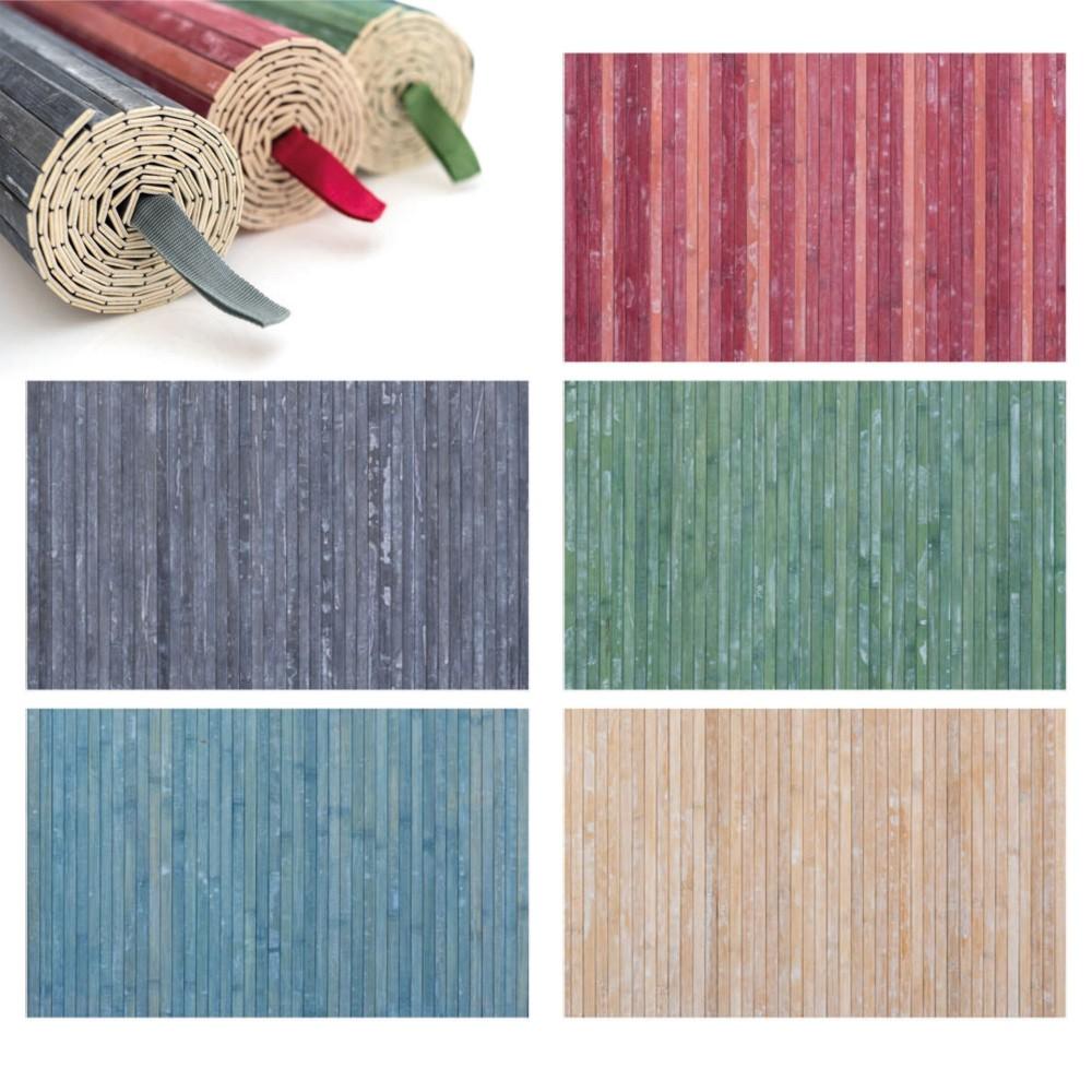 REDS Tappeto in Bamboo 800051 con fondo antiscivolo 50x80cm Lavabile