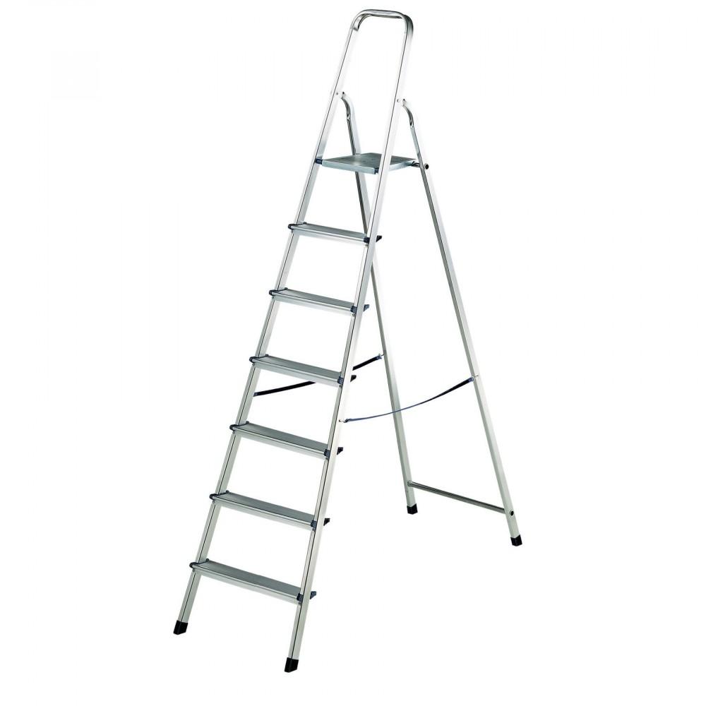 Scala DH53834 in alluminio 7 gradini Divina Home 140cm di altezza max