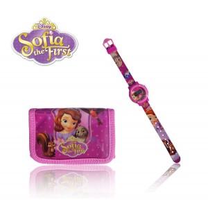 Orologio digitale piu' portafoglio principessa Sofia idea regalo personaggi Disney