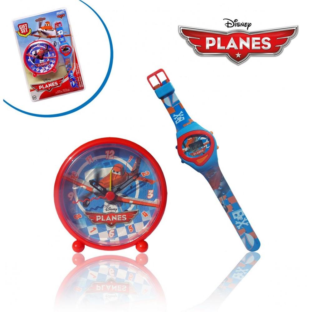 WD10439 Orologio digitale polso con orologio da comodino sveglia PLANES Disney