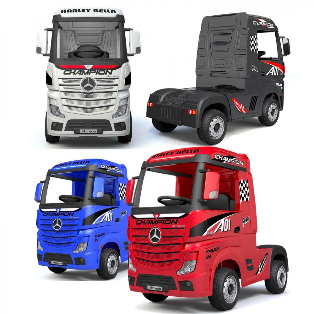 Truck Camion elettrico LT911 per bambini MERCEDES ACTROS 12V PORTE APRIBILI