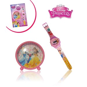 Orologio digitale da polso piu' orologio da comodino con sveglia integrata principesse Disney idea regalo
