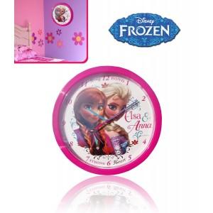 Orologio da muro per camerette principesse Frozen Elsa e Anna Disney
