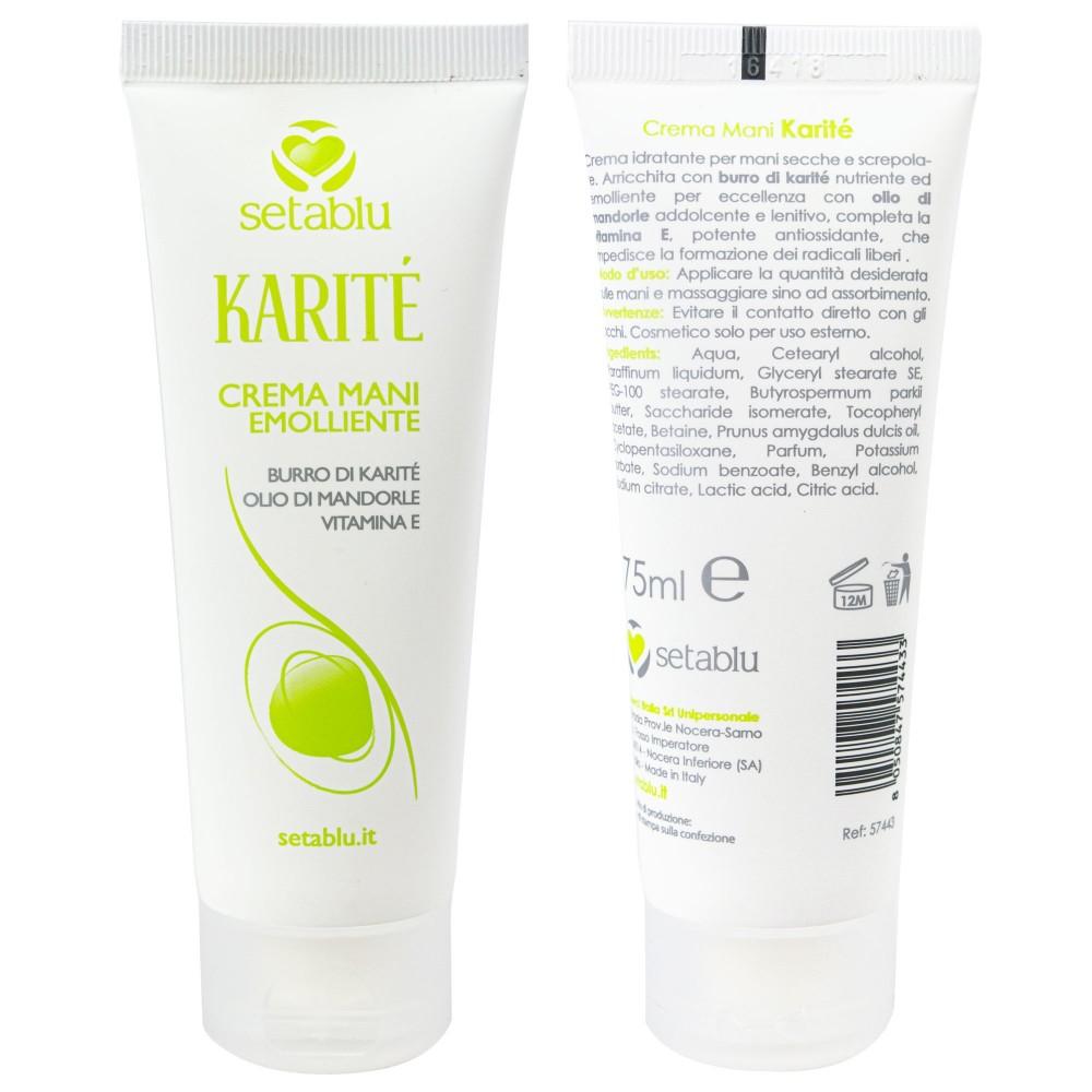 Setablu Crema Mani Emolliente 574433 con burro di KARITE' olio di madorle 75 ml