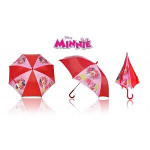 3614 Ombrello da pioggia Minnie 65 x 76 cm fondo rosso comodo leggero Disney