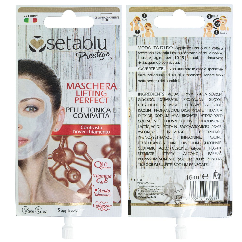 SETABLU 938988 Maschera Lifting Perfect Pelle tonica con acido ialuronico 15mL