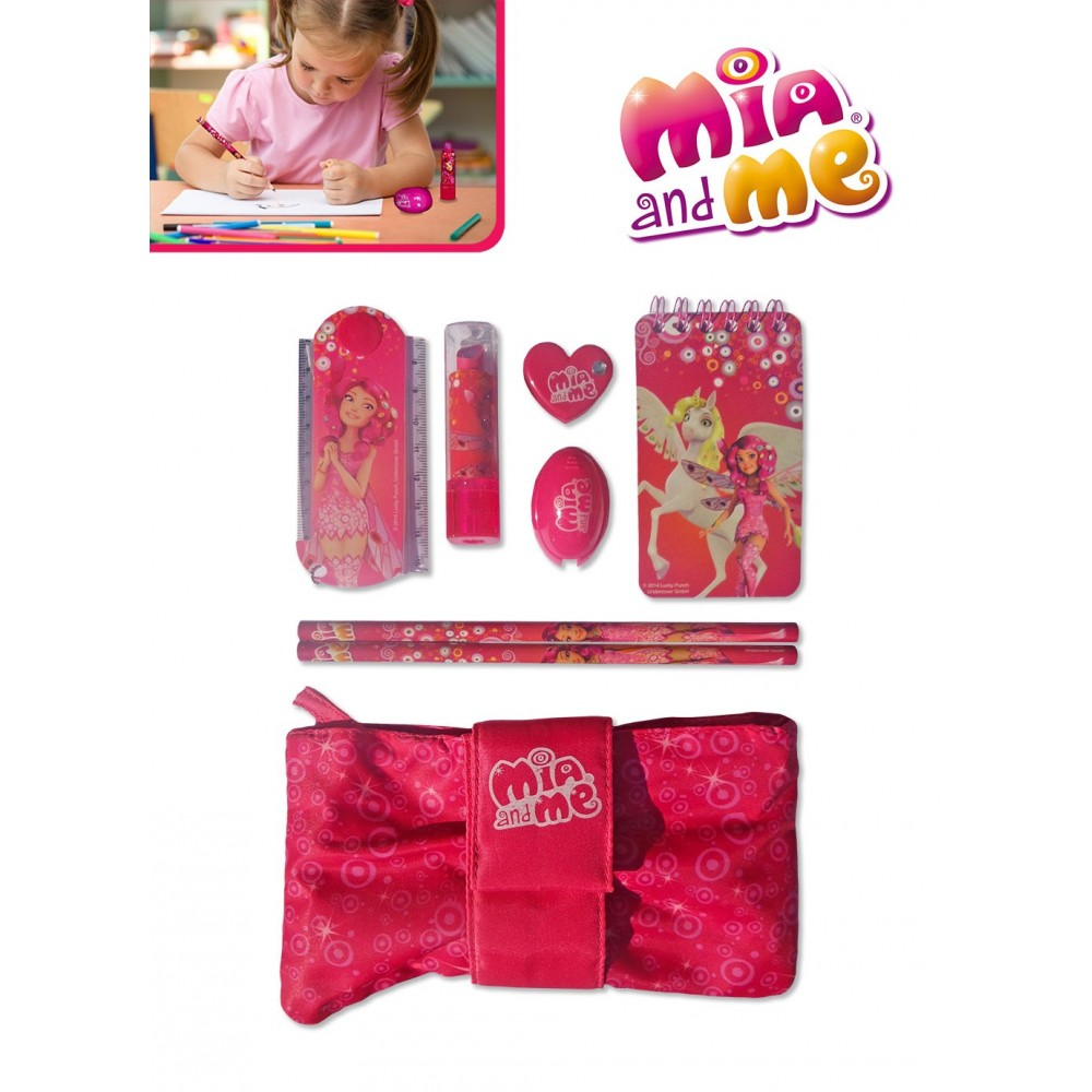 MM13223 Set scrittura con astuccio Mia and Me diario segreto 8 pz idea regalo